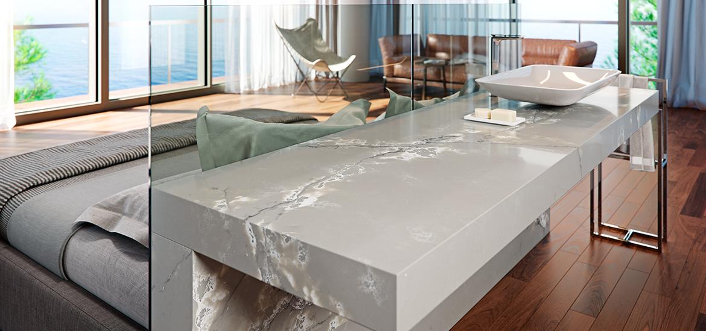 Genesis D Exhibition Design : Colección genesis surfaces en marbre et quartz pour