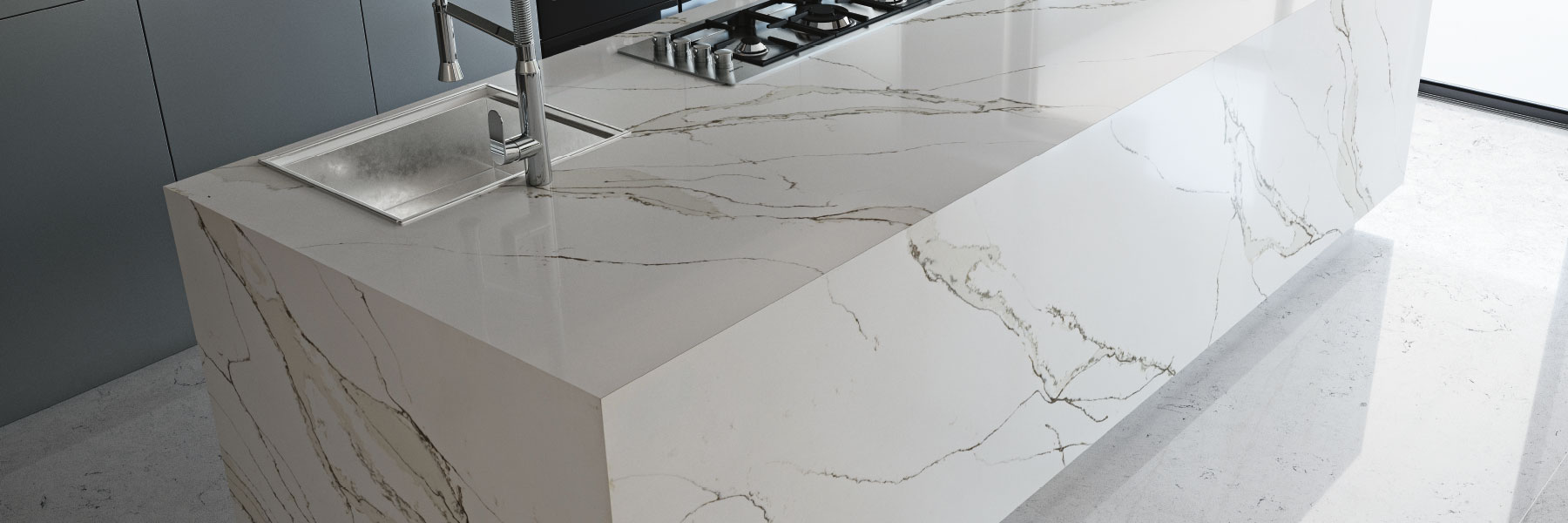 COMPAC, COMPACSURFACES, COMPAC THE SURFACE COMPANY, UNIQUE COLLECTION, CALACATTA GOLD
